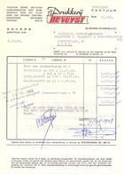 Factuur Facture  - Drukkerij De Vuyst - Gavere 1968 - Imprimerie & Papeterie