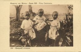 Kenya, Rampolli Cristiani, Young Christians (1920s) Italian Mission Postcard - Kenya