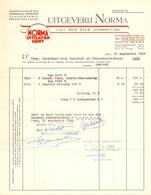 Factuur Facture  - Uitgeverij Norma -  Gent 1968 - Printing & Stationeries