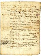 HISTORIQUE GENEALOGIQUE ST GILIS   1632 1682   -  MARIO DI GINLO  -  4 PAGES DONT 2 MANUSCRITES - Manuscripts