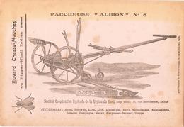 """Buvard """" Faucheuse Albion N° 5 """" ( Taches, Pliures, 24,5 X 16 Cm ) - Buvards, Protège-cahiers Illustrés"""