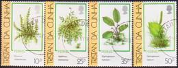 TRISTAN DA CUNHA 1989 SG #478-81 Compl.set Used Ferns - Tristan Da Cunha