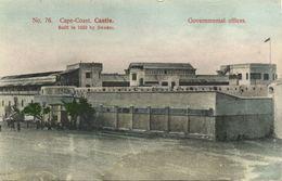 Ghana, Gold Coast, CAPE COAST, Castle, Government Offices (1910s) Postcard - Ghana - Gold Coast