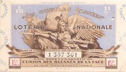 Billet De Loterie Nationale Les Gueules Cassées 1937, 12 ème Tranche - Biglietti Della Lotteria
