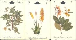 Oman, Herbs (Plants), 3-Cards - Oman