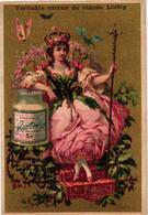 0133 C1883 Femme Fleur Liebig, Serie Nr 133 Compl. 6 LITHO Chromos Dos Français EN BLEU + Signature Diagonal  (Canada ! - Liebig