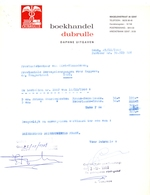 Factuur Facture  - Boekhandel Dubrulle - Gent 1968 - Printing & Stationeries