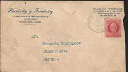 L) 1914 CUBA, MAXIMMO GOMEZ, SCOTT A36, 2C BRT ROSE, XF - Lettres & Documents