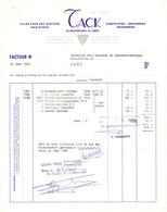 Factuur Facture  - Alles Voor Kantoor - Drukwerken TACK - Gent 1968 - Imprimerie & Papeterie