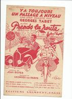Partition  GEORGES TABET Du Film PRENDS LA ROUTE -Y A TOUJOURS UN PASSAGE A NIVEAU - Partitions Musicales Anciennes