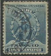 PERU' 1896 1900 FRANCISCO PIZARRO CONQUEROR OF THE INCA EMPIRE 1899 CENT. 5 USATO USED OBLITERE' - Peru