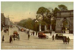 (324) Very Old Postcard - Ireland - Dublin St Stephen's Green - Dublin
