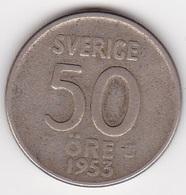 50 Öre Münze Aus Schweden (sehr Schön) 1953 Silber - Schweden