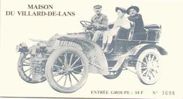 Carton Entrée Maison Du Villard-de-Lans - Biglietti D'ingresso