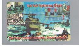 TURCHIA  (TURKEY)  -  2001 156^ ANNIV. POLICE, HELIPCOTER     - USED - RIF. 10776 - Turkije