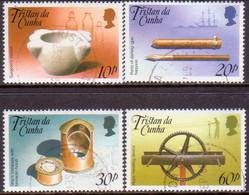 TRISTAN DA CUNHA 1989 SG #482-85 Compl.set Used Nautical Museum - Tristan Da Cunha