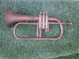 Bugle Cornet Piston Antoine Courtois:instrument à Vent Musique .Trompette-Cor-Trompe Chasse-Poste Facteur Allemagne-1862 - Musical Instruments