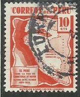 PERU' 1938 Highway Map CENT. 10 10c USATO USED OBLITERE' - Peru