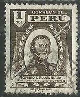 PERU' 1945 1947 TORIBIO DE LUZIRIAGA S 1 1S USATO USED OBLITERE' - Peru