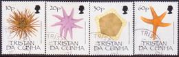 TRISTAN DA CUNHA 1990 SG #494-97 Compl.set Used Echinoderms - Tristan Da Cunha