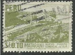 PERU' 1952 1953 MATARANI SOL 0,10 USATO USED OBLITERE' - Peru