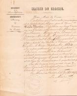 Lettre à En Tête De La Mairie Du Croisic Le 1 Juillet 1852 - Manuscripts