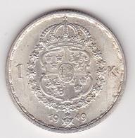 1 Krone Münze Aus Schweden (vorzüglich) 1949 Silbermünze - Schweden