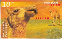 SWITZERLAND - PHONE CARD  ***   PRÉPAID CARD - DROMADAIRE  *** - Ohne Zuordnung