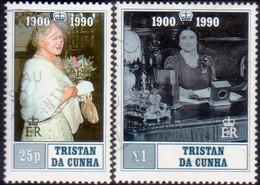 TRISTAN DA CUNHA 1990 SG #498-99 Compl.set Used 90th Birthday Of Queen Elizabeth The Queen Mother - Tristan Da Cunha