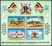 Kenya-Uganda-Tanzania 1972 - Fauna Independence - Mi. Block 3 ** MNH ~~~ - Postzegels
