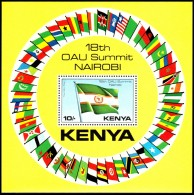 Kenya 1981 - OAU Summi Nairobi - Mi. Block 15 ** MNH ~~~ - Kenya (1963-...)