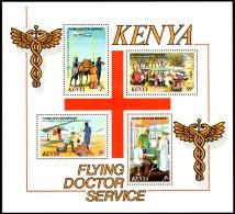 Kenya 1980 - Flying Doctors Red Cross - Mi. Block 13  ** MNH ~~~ - Kenia (1963-...)