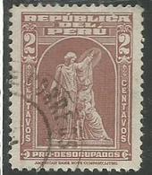 "PERU' 1938 PROTECTION BY JOHN WARD ""American Bank Note Company"" PRO DESOCUPADOS DISOCCUPATI CENT. 2 USATO USED OBLITERE' - Peru"