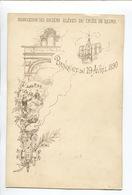 Reims Banquet Du 19 Avril 1890 Association Des Anciens élèves Du Lycée Menu Illustré Banquet - Menus