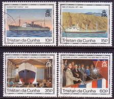 TRISTAN DA CUNHA 1990 SG #500-04 Compl.set+m/s Used Maiden Voyage Of St.Helena II - Tristan Da Cunha