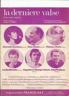 Partition LA DERNIERE VALSE-mireille Mathieu Tino Rossi Petula Clark Lucky Blondo - Partitions Musicales Anciennes