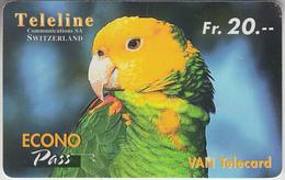 SWITZERLAND - PHONE CARD  ***   PRÉPAID CARD - PERROQUET / 2  *** - Papageien