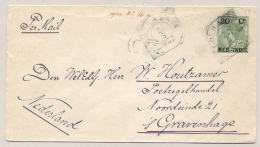 Nederlands Indië - 1902 - 20c Opdruk Op Bontkraag, Envelop G17, Van VK SOERABAJA Naar Den Haag / NL - Nederlands-Indië