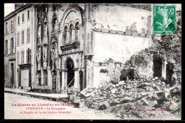 54-Lunéville, La Synagogue Et Maisons De La Rue Gambetta - Luneville