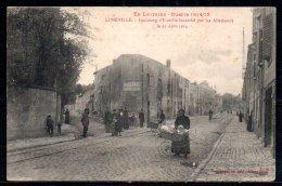 54-Lunéville, Faubourg D'Einville Incendié Par Les Allemands - Luneville