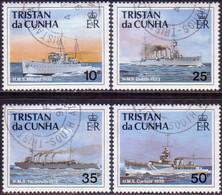 TRISTAN DA CUNHA 1991 SG #509-12 Compl.set Used Ships Of The Royal Navy (2nd Series) - Tristan Da Cunha