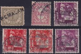 Ned. Indië: 6 Verschilende Stempels, W.o. Bankalan, Wlingi, Soebang Etc - Indes Néerlandaises