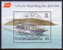 TRISTAN DA CUNHA 1991 SG #MS513 M/s Used Visit Of Royal Viking Sun - Tristan Da Cunha