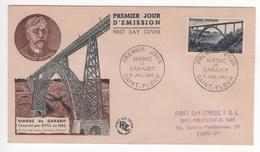Enveloppe FDC Viaduc De Garabit N°928 Oblitérée 5/7/52 - 1950-1959