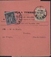 YT 83 Sage YT 107 Blanc émis 1900 Bande Journal L'écho De La Timbrologie Tarif 2ct 1er Juin 1895 Fin Abonnement 31 12 00 - Postal Stamped Stationery