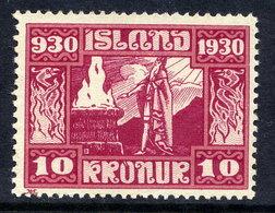 ICELAND 1930 Millenary Of Parliament 10 Kr.  LHM / *  Michel 139 - 1918-1944 Autonomous Administration