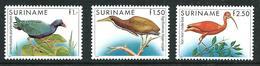 SURINAME MNH - 1985 Birds - Uccelli - Vari Cent - Michel SR 1146 1148 - Suriname