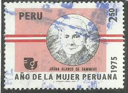 PERU' 1975 Juana Alarco De Dammert. SOL 2 1/2s USATO USED OBLITERE' - Peru