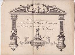Tableau D'Honneur Mai  1886 (Format 29 X 24) - Diploma & School Reports