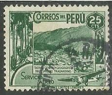 PERU' 1938 SERVICIO AEREO POSTA AEREA AIR MAIL VIEW OF TARMA VEDUTA USATO USED OBLITERE' - Peru
